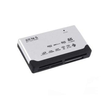 Четец за карти All in 1, USB, microSD, SDHC, MMC, CF, бял image