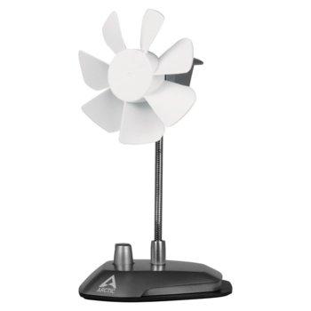 Вентилатор за бюро Arctic Breeze, 1W, 92 mm, USB, бял image