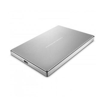 """Твърд диск 1TB LaCie Porsche Design (сребрист), външен, 2.5"""" (6.35 cm), USB 3.0 image"""