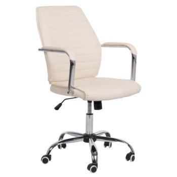 Офис стол Carmen 6174, еко кожа, до 130 кг, бежов image