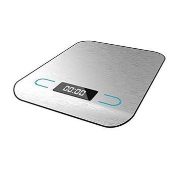Кухненски кантар Cecotec Cook Control 8000, дигитален, до 5кг капацитет, Функция Tare, стъклен LCD дисплей, технология FourControl с 4 сензора, сив image