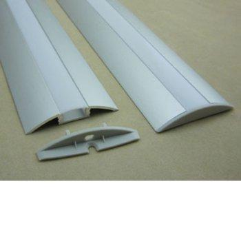 LED алуминиев профил M001F-RF, 52 x 12mm, 2m дължина, за ленти до 12mm image