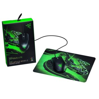 Мишка Razer Abyssus Lite + пад Goliathus Mobile Construct Edition, оптична (6400 dpi), USB, черна, геймърска image