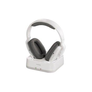 Слушалки, Thomson WHP3311W UHF, безжични, 100м обхват, бели image