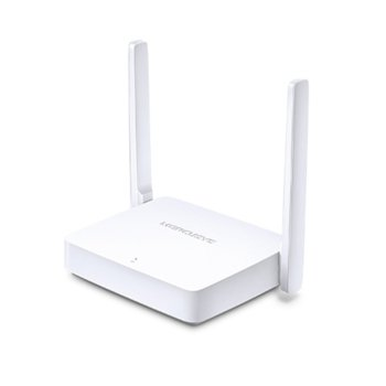 Рутер Mercusys MW301R, 300Mbps, 2.4GHz(300Mbps), Wireless N, 2x 10/100Mbps, 2x външни 5dBi антени image