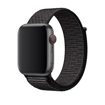Каишка за смарт часовник Apple Watch (44mm) Nike Band:Black Nike Sport Loop, черна image