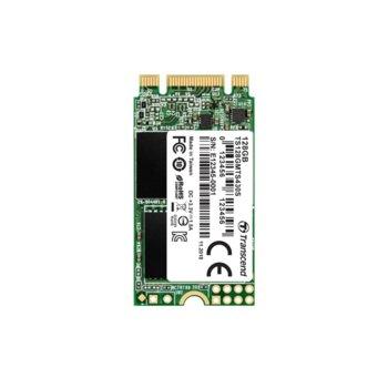 Памет SSD 128GB Transcend 430S, SATA 6Gb/s, M.2 (2242), скорост на четене 550MB/s, скорост на запис 480MB/s image