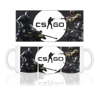 Чаша Gaya Entertainment CS:GO logo, бяла image