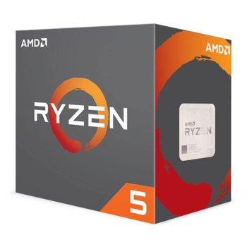 Процесор AMD Ryzen 5 2600X шестядрен (3.6/4.2GHz, 3MB L2/16MB L3 Cache, AM4) BOX, с охлаждане Wraith Spire image