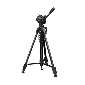 Трипод Hama Star Black 04469, мин/макс. височина 60-153 см, 3кг товароносимост, алуминиев, черен image