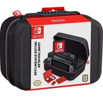 Чанта Nacon BigBen Travel Case NNS60, за Nintendo Switch, място за 8 дискети, място за 2 microSD карти, място за докинг станция, черна image