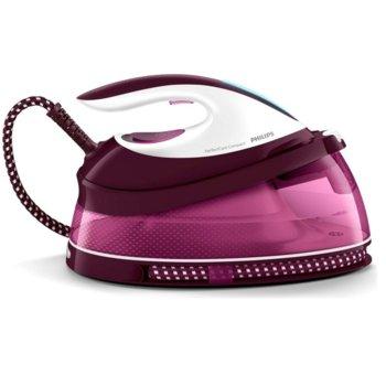 Парогенератор Philips PerfectCare Compact Макс., 5,3 бара, парен удар до 280 г, 1.5 л., 2400W, розова image