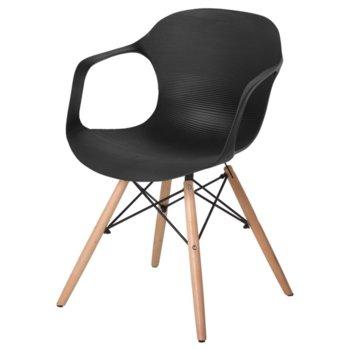 Трапезен стол Carmen 9964, черен image