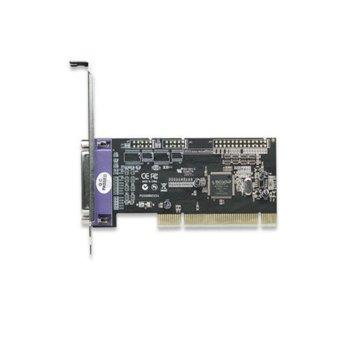 Контролер Manhattan Parallel PCI Card 158220, от PCI(м) към 1x Parallel LPT(DB-25)(ж) image