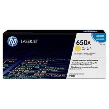 КАСЕТА ЗА HP Color LaserJet CP5520 - Yellow - 650A - P№ CE272A - заб.: 15 000k image