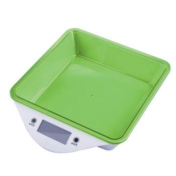 Кухненски кантар Zephyr ZP 1651 LS, дигитален, до 5kg., точност до 1гр, LCD дисплей, aвтоматично изключване, индикатор за претоварване, зелен image