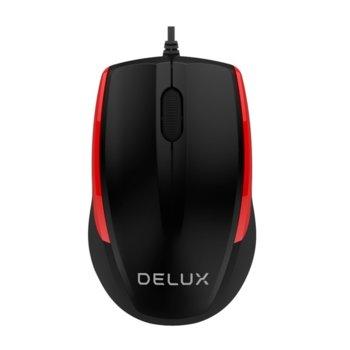 Мишка Delux M321BU, оптична(1000dpi), USB, черна image
