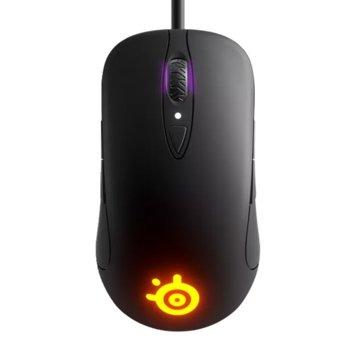 Мишка SteelSeries Sensei Ten, оптична (18000dpi), USB, черна, геймърска, RGB image