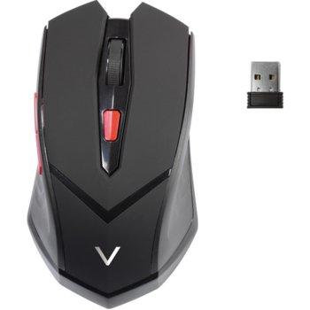 Мишка Vivanco 39630, оптична (1600dpi), безжична, USB, черна, 5 бутона image