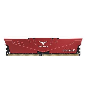Памет 8GB DDR4 3000MHz, Team Group T-Force Vulcan Z TLZRD48G3000HC16C01, 1.35 V, червена image