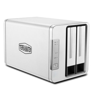 Мрежови диск (NAS) TerraMaster F2-210, четириядрен Realtek RTD1296 1.4 GHz, с 2 дискa Seagate NAS 6TB, 1GB, 1x 1GbE port, 2x USB 3.0 image