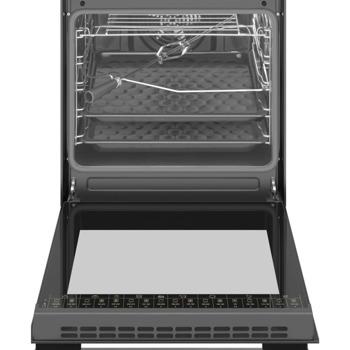 Готварска печка Amica 6018CE3.434EHTAKDQXX, 4 нагревателни зони, 65 л. обем на фурната, инокс image