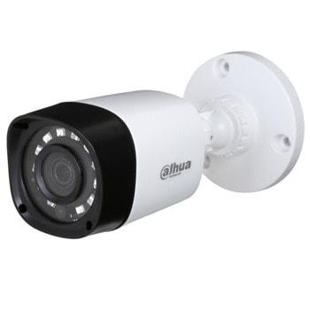 "HDCVI камера Dahua HAC-HFW1200R-0280B, насочена ""bullet"" камера, 2MP (1920×1080@30fps), 2.8 mm обектив, IR осветление (до 20m), външна IP67 image"