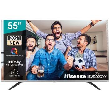 "Телевизор Hisense 55E76GQ, 55"" (139.70 cm) 4K/UHD QLED Smart TV, DVB-T2/C/S2, LAN, Wi-Fi, Bluetooth, 3x HDMI, 2x USB image"