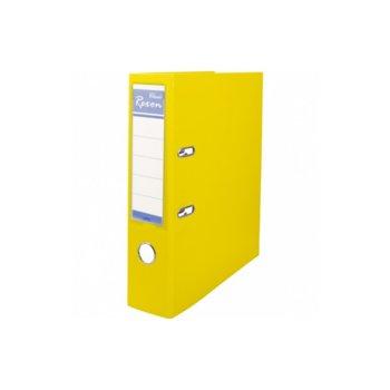 Класьор Rexon, за документи с формат до A4, дебелина 8см, с метален кант, жълт image