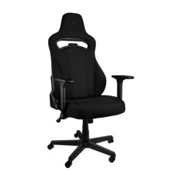 Геймърски стол Nitro Concepts E250, регулируем, възглавница за кръст, черен image