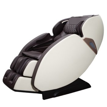 Масажен стол Rexton S7 Br White, Bluetooth, кожен, кафяво - бял image