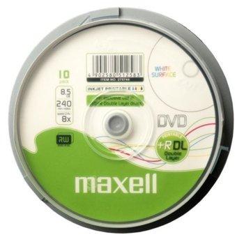 Оптичен носител DVD+R 8.5GB, Maxell Printable 8x, 25бр. image