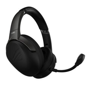 Слушалки Asus ROG Strix Go 2.4, гейминг, безжични, микрофон, бързи бутони, сгъваеми, до 25 часа време за работа, черни image