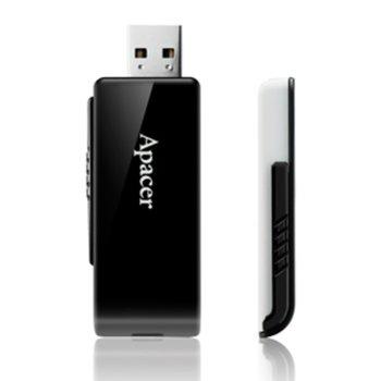 Памет 32GB USB Flash Drive, Apacer AH350, USB 3.0, черна, 50 броя в опаковка image