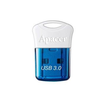 Памет 16GB USB Flash Drive, Apacer AH157, USB 3.0, синьо/бяла  image
