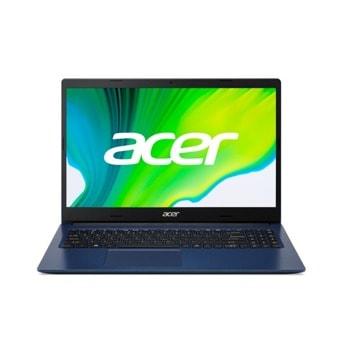"Лаптоп Acer Aspire 3 A315-57G (NX.HZSEX.00N)(син), двуядрен Ice Lake Intel Core i3-1005G1 1.2/3.4 GHz, 15.6"" (39.62 cm) Full HD Anti-Glare Display & GF MX330 2GB, (HDMI), 8GB DDR4, 512GB SSD, 2x USB 3.0, Windows 10 Home image"
