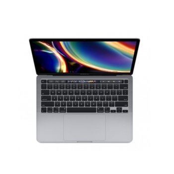 "Лаптоп Apple MacBook Pro 13 Touch Bar (2020)(MXK32ZE/A_Z0Z1000E2/BG)(сив), четириядрен Intel Core i5 1.4/3.9 GHz, 13.3"" (33.78) cm IPS Retina дисплей, (Thunderbolt), 8GB DDR4, 256GB SSD, 4x Thunderbolt 3, macOS Catalina image"