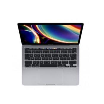 "Лаптоп Apple MacBook Pro 13 Touch Bar (2020)(MXK32ZE/A_Z0Z1000E2/BG)(сив), четириядрен Intel Core i5 1.4/3.9 GHz, 13.3"" (33.78) cm IPS Retina дисплей, (Thunderbolt), 8GB DDR4, 256GB SSD, 4x Thunderbolt 3, macOS Catalina image"