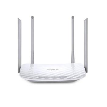 Рутер TP-Link Archer C50, 1200Mbps, 2.4GHz (300 Mbps) / 5GHz (867Mbps), Wireless AC, 4x LAN 10/100, 1x WAN 10/100, 4x външни антени image