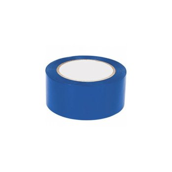 Цветно тиксо, подходящо за естествени и изкуствени тъкани, метал, дърво, мрежи, неопрен, пластмаси, ремъци, кожи, стъкла, въжета, гуми и други, широчина 4.8см, дължина 60м, синьо image