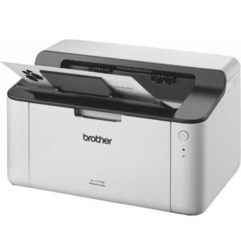 Лазерен принтер Brother HL-1110E, монохромен, 2400x600dpi, 20стр/мин, USB2.0, A4, 2+1 г. image