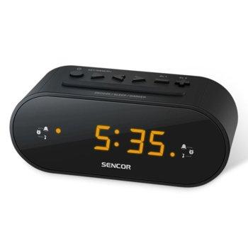 Радиочасовник Sencor SRC 1100 B, цифров, FM тунер, двойна аларма, функция за заспиване, бял image