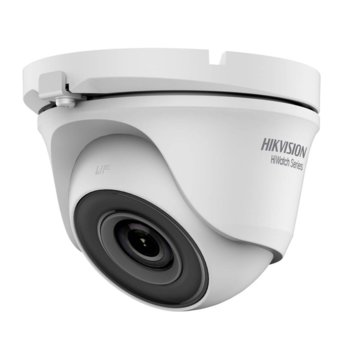 HDCVI камера HikVision HWT-T110-M, куполна камера, 1MPix(1280×720@25fps), 2.8/3.6/6 mm, IR осветеност (до 20 m), външна IP66 image