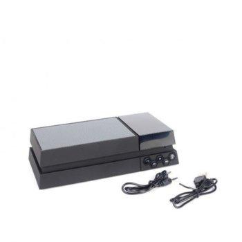 Тонколона Home SP Clock GS-301, 2.0, 6W RMS ( 2 x 3W), Bluetooth, USB, черна image