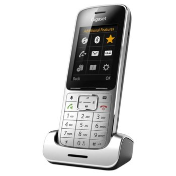 """Безжичен телефон Gigaset SL450, 2.4"""" (6.1 cm) цветен дисплей, сребрист image"""