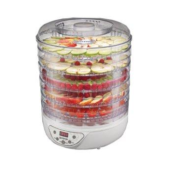 Уред за сушене на плодове и зеленчуци Gorenje FDK 24 DW, 240 W, 5 плочи, Електронно управление, Сушене на плодове, гъби, месо, билки и зеленчуци, бял image