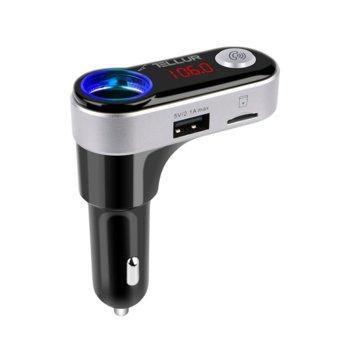 Радио трансмитер Tellur FMT-B2, MP3/WMA, Bluetooth, USB, MicroSD, 3.5mm жак, дисплей, черен image