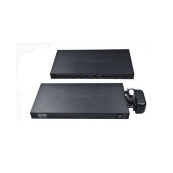DeTech HDMI(ж) към 8x HDMI(ж) product