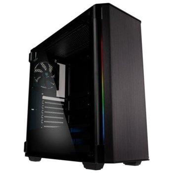 Кутия Kolink Refine RGB TG (KOLINK-CASE-GEKL-055), ATX, 1 x USB 3.0, 1 x USB 3.1 Type-C, черна, без захранване image
