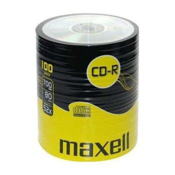 Оптичен носител CD-R, 700MB, Maxell, 52x, 100 бр. image